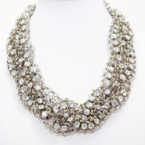 ✨New! Silver Luxe Cluster Statement Necklace